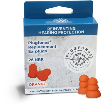 ComforTiered Replacement Silicone Plugs,  Orange