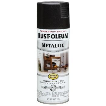 Rust-Oleum 7250830 Metallic Spray Paint, Black Night ~ 11 oz Cans