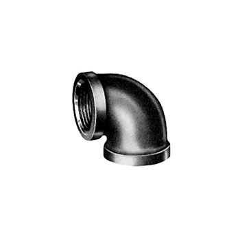 90 Degree Reducing Elbow - Black Steel - 1 x 3/4 inch