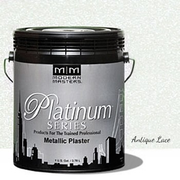 Platinum Series Metallic Plaster, Antique Lace ~ Gallon
