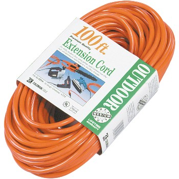 Coleman Cable 02309 Outdoor Extension Cord ~ 100 feet