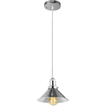 Pendant Fixture, Saucer Style ~ Polished Nickel