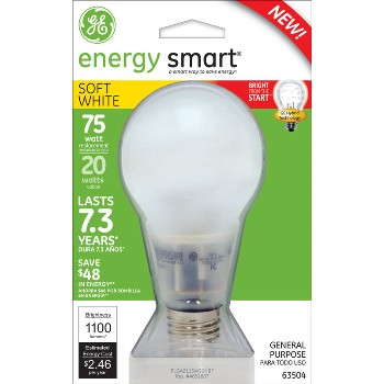 Energy Smart CFL Bulb - 20 watt/75 watt ~ Soft White