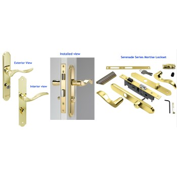 Wright Products VMT115PB Serenade Series Mortise Lockset,  Polished Brass Finish