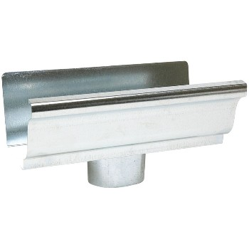 Style K Galvanized Steel Gutter End with Drop ~ 5 inch