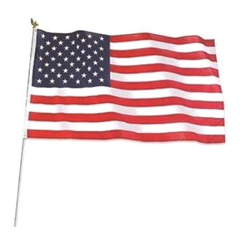 U.S. Flag Set,  Polyester & Cotton ~- 3 x 5 feet