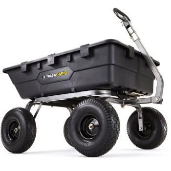 Tricam GOR10-16 Heavy Duty Poly Dump Cart, 1500lb