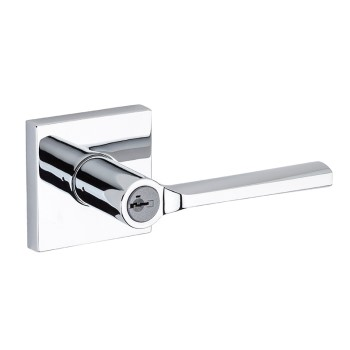 Lisbon Keyed Entry Lever ~ Polished Chrome