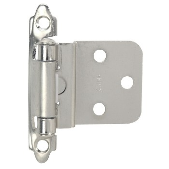 Inset Cabinet Hinge, Satin Nickel