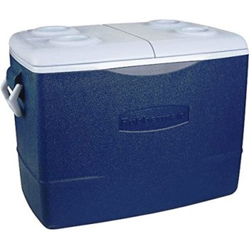 Rubbermaid 1931021 Cooler,  Non-Wheeled Blue ~ 50 Quart 1931021