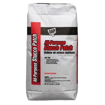 All Purpose Dry Stucco Patch Mix, White ~ 25 lb Bag