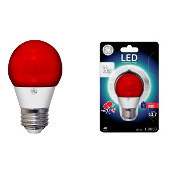 Party Light Bulb, Red ~ LED