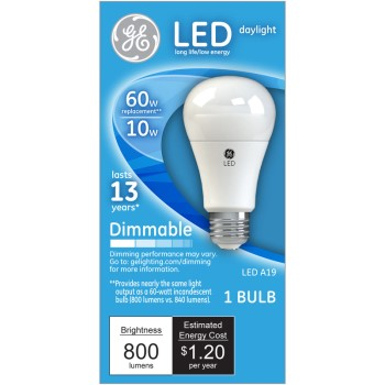 Dimmable LED Light Bulb - 10 watt/60 watt ~ Daylight