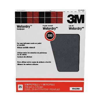 3M 051144994229 Wet or Dry Sandpaper, 220A Grit