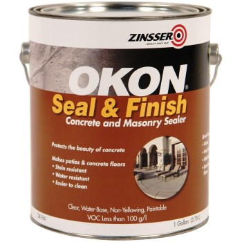 Rust-Oleum OK941 Zinsser Okon Seal & Finish Concrete and Masonry Sealer, Low Gloss Clear ~ Gallon