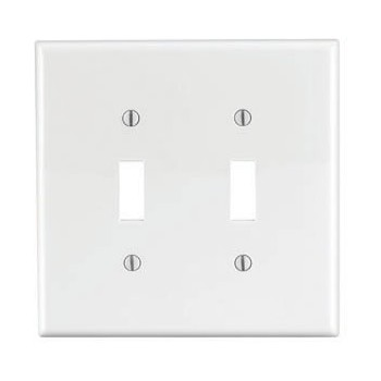Two-Toggle Switch Plate - ~ White