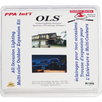 PPA Intl  OLSAOLRGB2 OLS All Occasions Outdoor Multi-Color Strips ~ 2 Ft