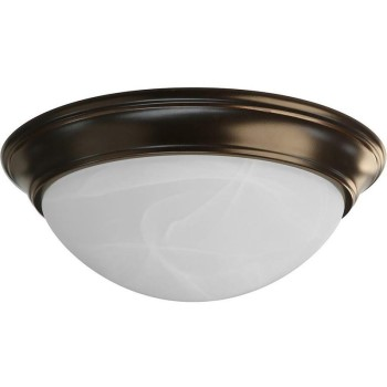 Round LED Intigrated Flush-Mount Celiling Fixture, Oil Rubbed Bronze Finish ~ 13""