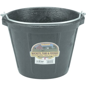 Miller Mfg  DF-10 Rubber Pail, 10 Quart