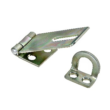 Zinc Safety Hasp,  Visual pack 30 1 - 3 / 4 inches