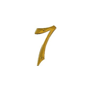 Solid Brass/Pb #7 House Number, Visual Pack 1901 4 inches