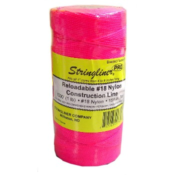 Stringliner 35762 Construction Line, Fluorescent Pink ~ 1000 ft.