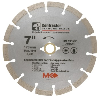 MK Diamond 167015 Diamond Saw Blade, Segmented Rim ~ 7""