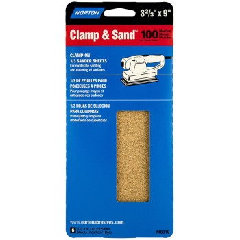 Handy Pack Sanding Sheet, 100 Grit ~ 3 2/3 x 9 inch