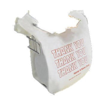 "Plastic Shopping Bag,  White w/""Thank You"" Printing ~ 11-1/2"" x 6-1/2"" x 22"""
