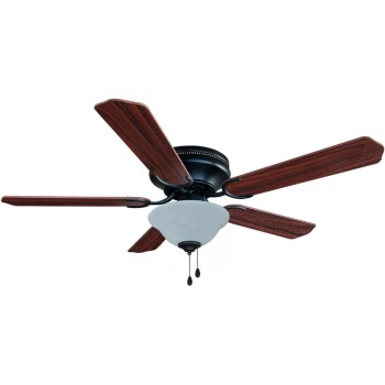 Jupiter Style Series Hugger Ceiling Fan. Oil Rub'd Bronze Finish ~ 5 Blade