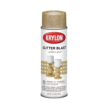 Glitter Blast Spray Paint,  Golden Glow ~ 5.7 5oz