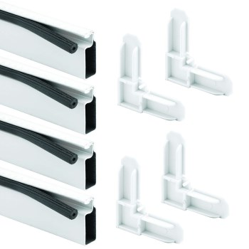 "PrimeLine/SlideCo PL7814 Aluminum Screen Frame Kit<  White  ~ 3/4"" x 5/16"" x 60"""