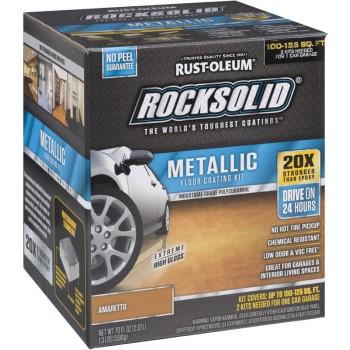 Rust-Oleum 299741 RockSolid Metallic Floor Coating Kit,  Amaretto