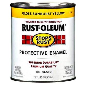Rust-Oleum 7747502 Stops Rust Protective Enamel,  Sunburst Yellow Gloss~ Quart
