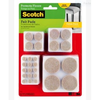 3M SP845 Assorted Felt Pads ~ 162pk