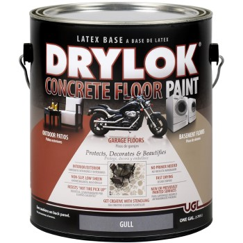 UGL 21313 DRYLOK Concrete Floor Paint, Gull Gray ~ Gallon