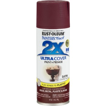 Painter's Touch Ultra Cover 2X Spray, Claret Wine Satin ~ 12 oz