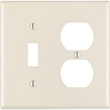 Combination Switch and Outlet Plate - ~ Light Almond