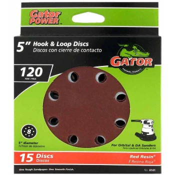 Hook & Loop Sanding Disc, 120 Fine Grit ~ 5""