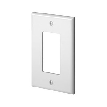 Decora 1-Gang GFCI Wall Plate ~ White