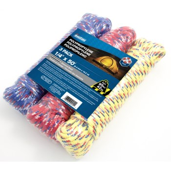 1/4in. X50ft. Asst Poly Rope