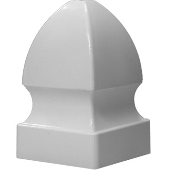 Gothic Post Top, White ~ 4""