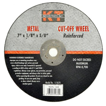 Metal Cut Off Wheel ~ 7""