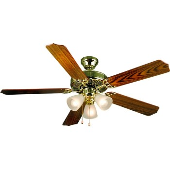 Panama Series Ceiling Fan, Bright Brass ~ 52""