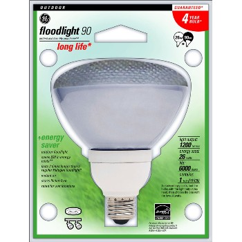 Compact Fluorescent Outdoor Floodlight, 26 watt