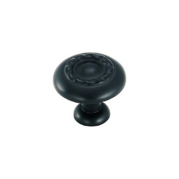 Knob - Flat Black Finish - 1.25 inch