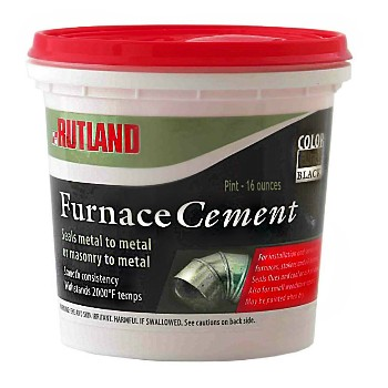 Furnace Cement,  Black ~  Pint