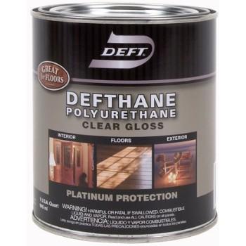Deft 02004 Defthane Polyurethane  Interior/Exterior Clear Gloss ~ Quart