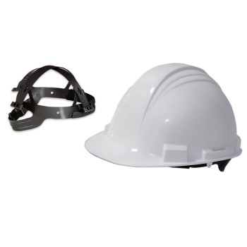 Racheting Hard Hat, 4 Point ~ White