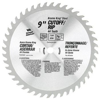 Krome King Cut off/Rip Saw Blade, 44t  ~ 9 ""